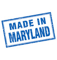 Maryland blue square grunge made in stamp vector image vector image