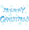 merry christmas words vector image vector image