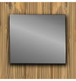 metal on a planks vector image vector image