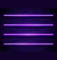 modern neon glowing lines banner on dark empty vector image