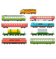 modern railway locomotives freight and passenger vector image vector image