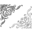 ornamental corners vector image vector image