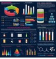 Pharmaceutical infographic for presentation design vector image vector image