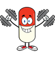 Pill Cartoon vector image vector image