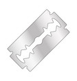 razor blade design isolated on white background vector image