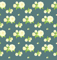 seamless rose pattern floral background vintage vector image