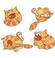 Set of cartoon cats vector image vector image