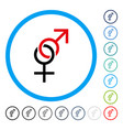 sex symbol rounded icon vector image vector image