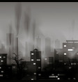 smog polluted urban landscape highly polluted vector image