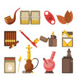 smoking appliances and cigarettes accessories vector image