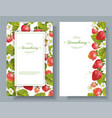 Strawberry vertical banners vector image vector image