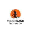 sun estate building logo design template vector image vector image