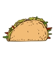 Tasty Mexican Tacos vector image