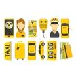 Taxi drive service icon vector image vector image