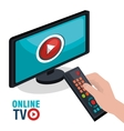TV live stream vector image