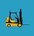 yellow vehicle forklift isolated vector image
