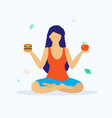 yoga and healthy lifestyle concept vector image