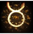 Zodiac sign Taurus vector image vector image
