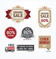 Sale tags banners set Design concept vector image