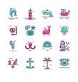 sea icons vector image