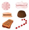 Set of sweets Cartoon eps10 vector image