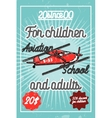 Color vintage Aviation poster vector image