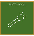 of trip symbol on torch doodle vector image
