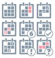 Calendar infographics set design templates vector image