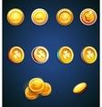 Set of cartoon coins vector image