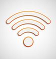 3D wifi icon vector image
