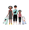 african american family on journey mother father vector image vector image