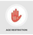 Age Restriction Flat Icon vector image vector image