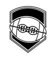 american football balloon emblem icon vector image vector image