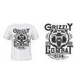 angry bear mascot t-shirt print template vector image