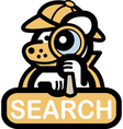 Animal web search vector image vector image