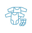 baby clothes linear icon concept baby clothes vector image