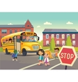 Back To School Safety depicting vector image vector image
