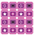 background geometric purple vector image vector image
