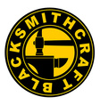 Blacksmithing emblem Logo for smithy Wrought iron vector image vector image