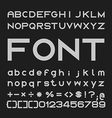 Bold Font Desgin Alphabet and Numbers vector image vector image