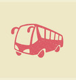 bus icon in grunge style vector image