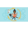 Business woman coping with multitasking vector image vector image