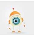 Cartoon Character Cute Robot vector image vector image