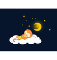 cat sleeping vector image