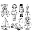 children toy for doll tin soldier vector image