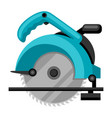 circular saw on white background vector image