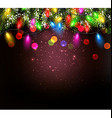 Color Christmas garland on vinous background vector image vector image