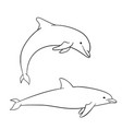 coloring book for children dolphin vector image