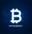 cryptocurrency digital bitcoins symbol technology vector image vector image