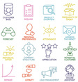 Customer Relationship Management Icons - part 2 vector image